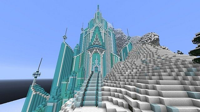 Map New York Minecraft Xbox.Let It Flow Elsa S Castle Elsa S Ice Castle Frozen Map