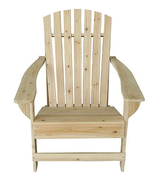 unfinished fir muskoka chair  home depot  home white