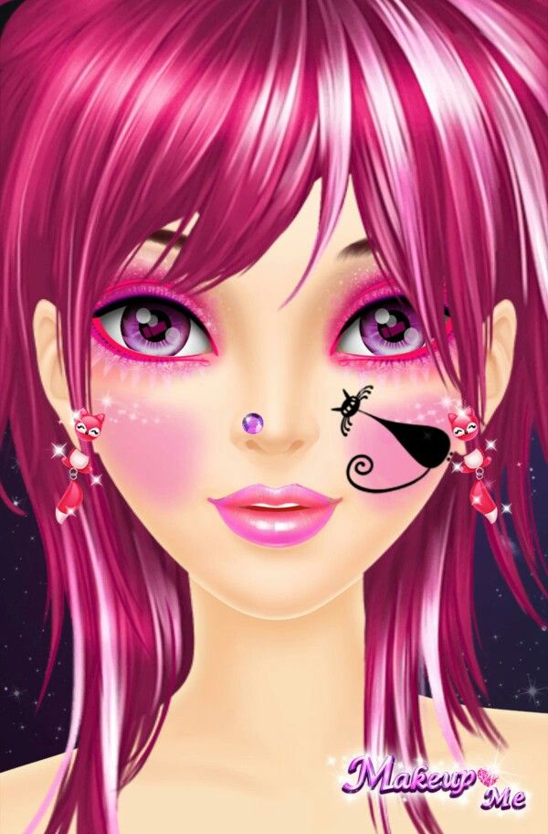 Makeup Me Whimsical Art Paintings Face Art Big Eyes Art