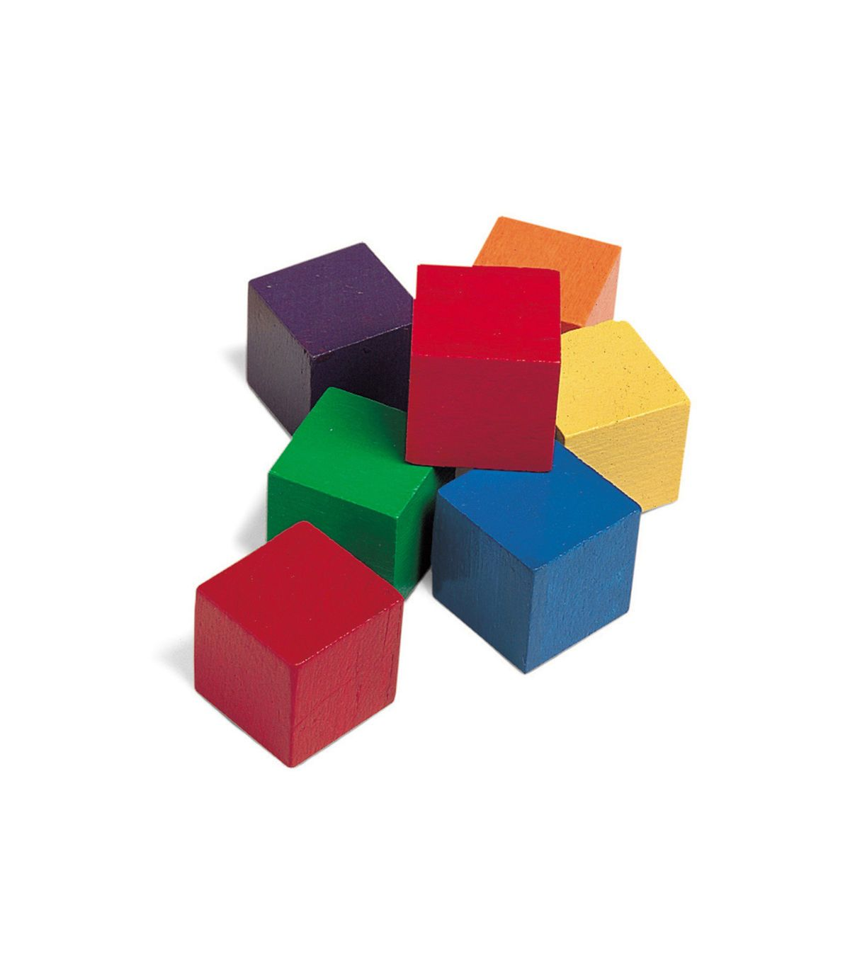 1 Inch Wooden Color Cube Set Of 102 Blocks
