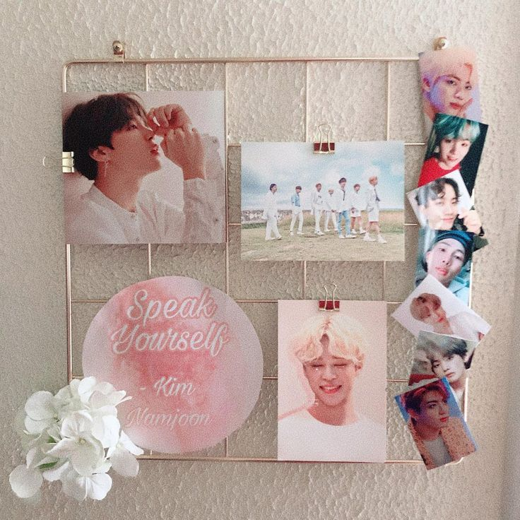 Wall Grid Bts A Little Something I Put Together In 2020 Army Room Decor Army Room Aesthetic Room Decor