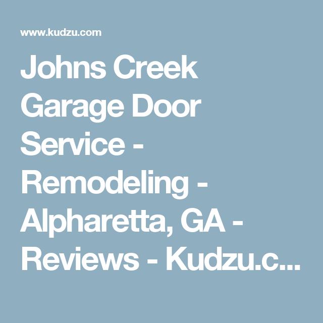 Johns Creek Garage Door Service Remodeling Alpharetta Ga