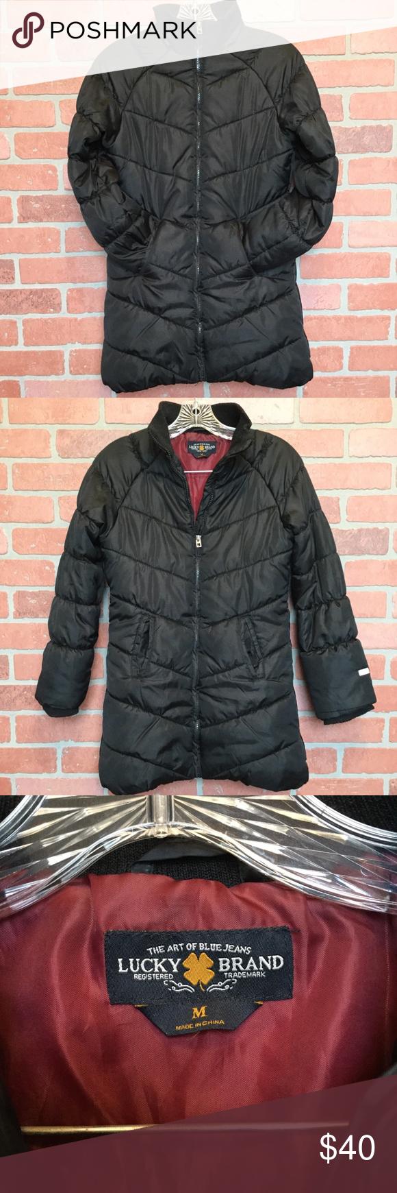 Lucky Brand Women S Med Black Puffer Jacket Coat Black Puffer Jacket Black Puffer Lucky Brand [ 1740 x 580 Pixel ]