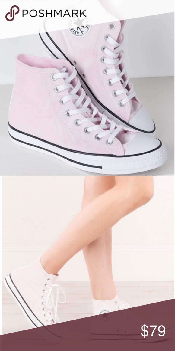 5778c1fe3082 NWT Converse Chuck Taylor All Star Hi Pink Velvet •Chuck Taylor All Star Hi  Arctic Pink Velvet Shoes from Converse. •High-top design.