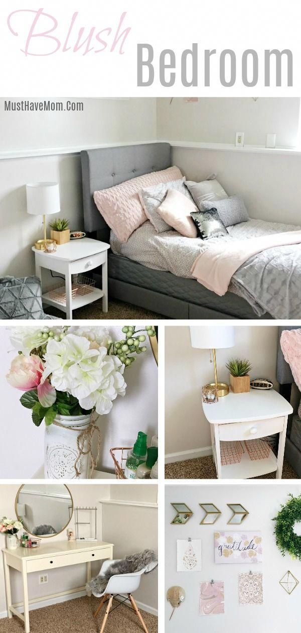 Pink and grey bedroom ideas for a teen girly bedroom / blush bedroom via @musthavemom @frogtape #ad #grayBedroom #graybedroomwithpopofcolor Pink and grey bedroom ideas for a teen girly bedroom / blush bedroom via @musthavemom @frogtape #ad #grayBedroom #graybedroomwithpopofcolor