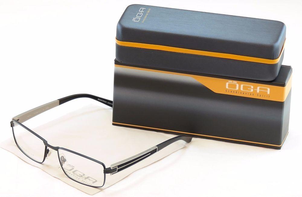 1e485c7c764 Authentic OGA Morel Eyeglasses Frame 74120 NN030 Matt Black Plastic Metal  France  OGA