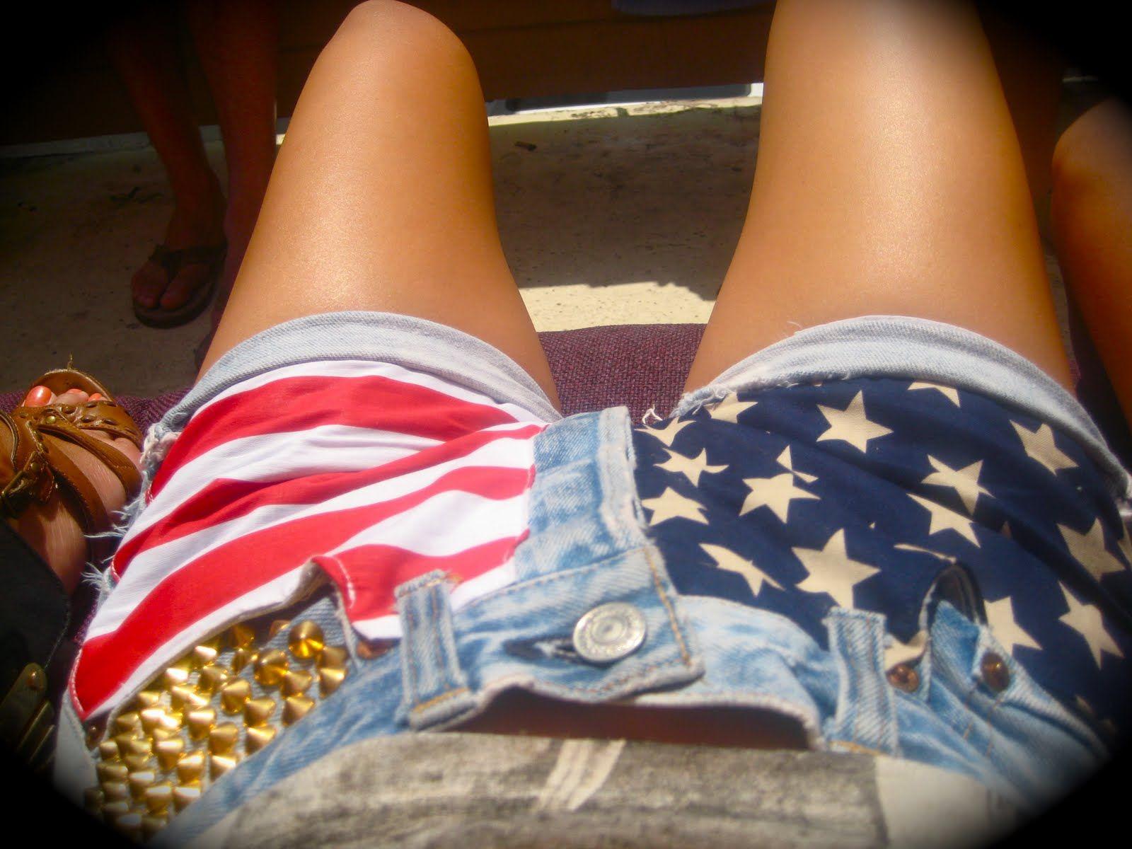 jessica+flag+shorts.JPG (1600×1200) Americana, Desnudos