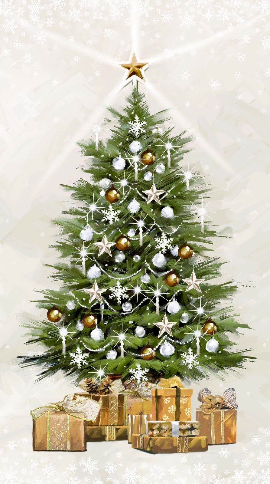 Northcott Fabric White Christmas Tree Panel By Richard Macneil Quilting Crafting Ebay