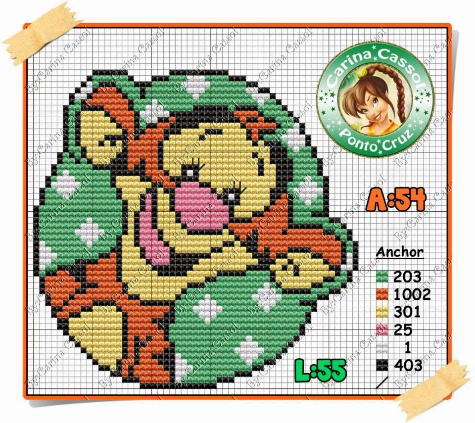 Baby tigger cross stitch bàby graphs pinterest tigger cross