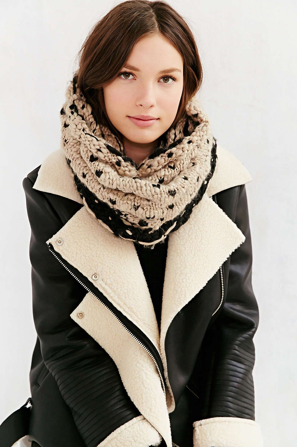 Bickley + Mitchell Mix Knit Snood Scarf | Snood scarf ...