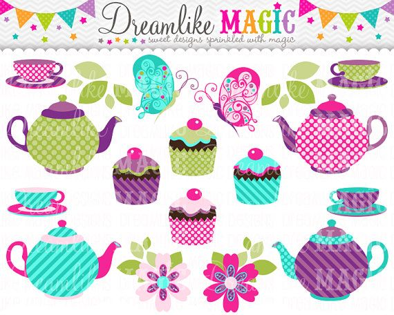 Sweet Tea Party Collection- Clipart | Applicazioni | Pinterest ...