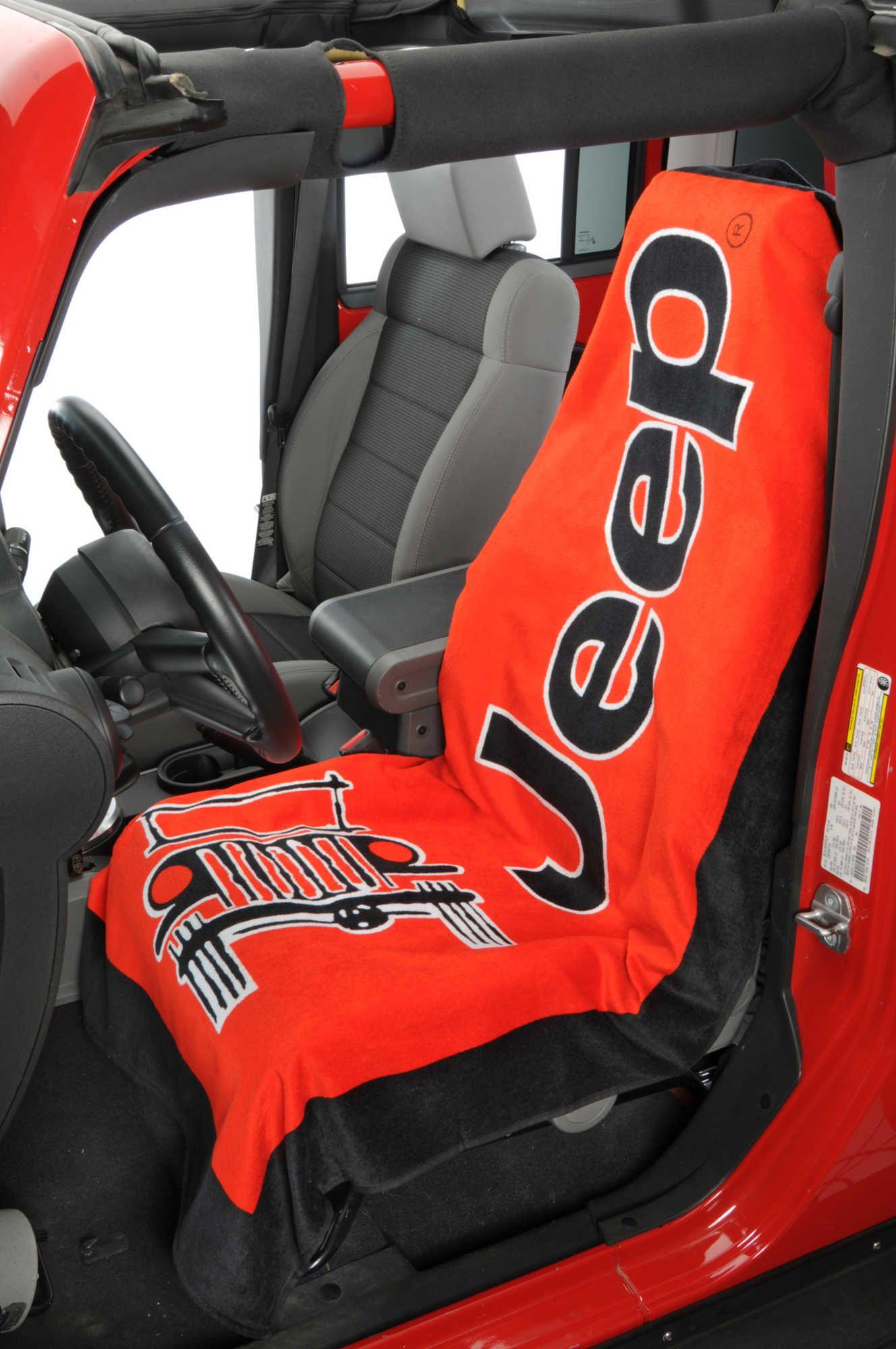 Insync Jeep Logo Towel 2 Go Seat Cover Jeep Wrangler Accessories Jeep Jeep Gear