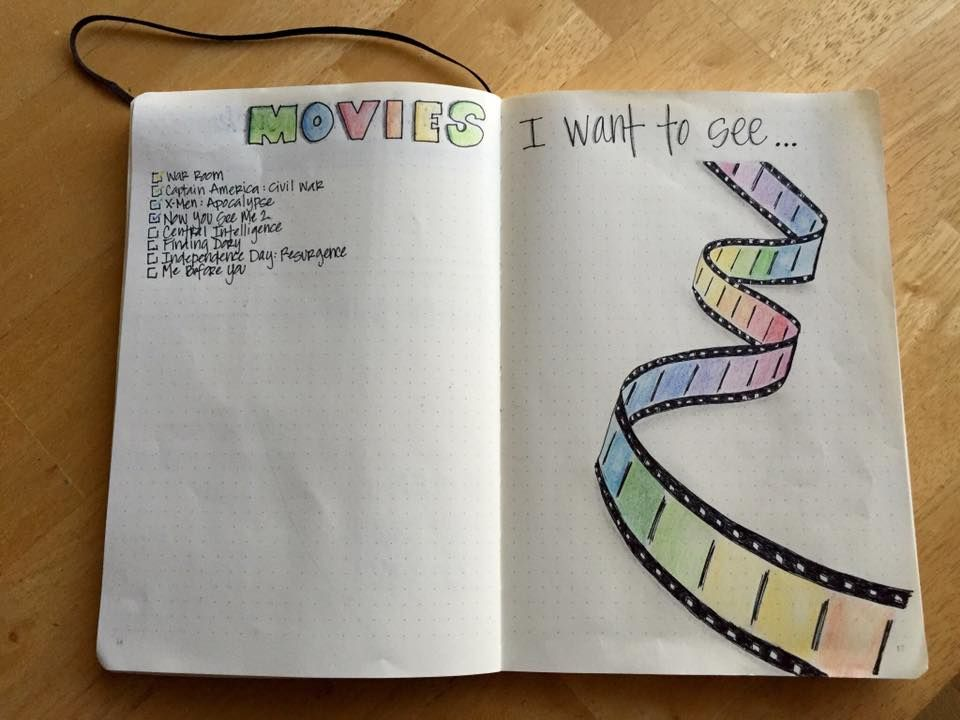 Bullet Journal Movie list