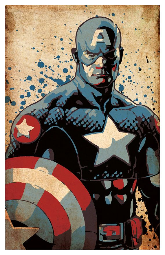Avengers Poster wall decor 11 x 17 Captain by PropagandaPrints ...