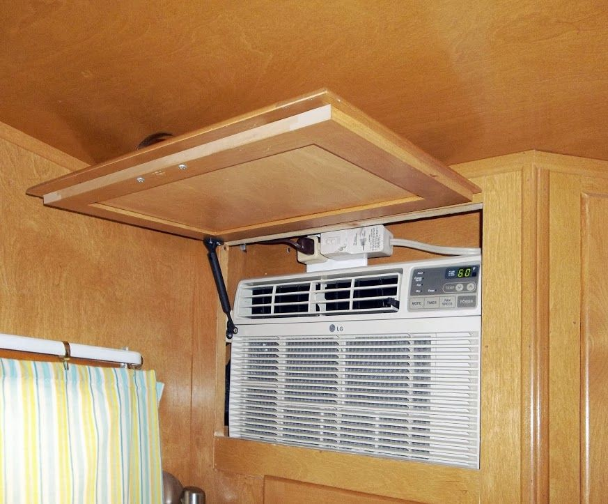 Installing an air conditioner in a cabinet | Vintage ...