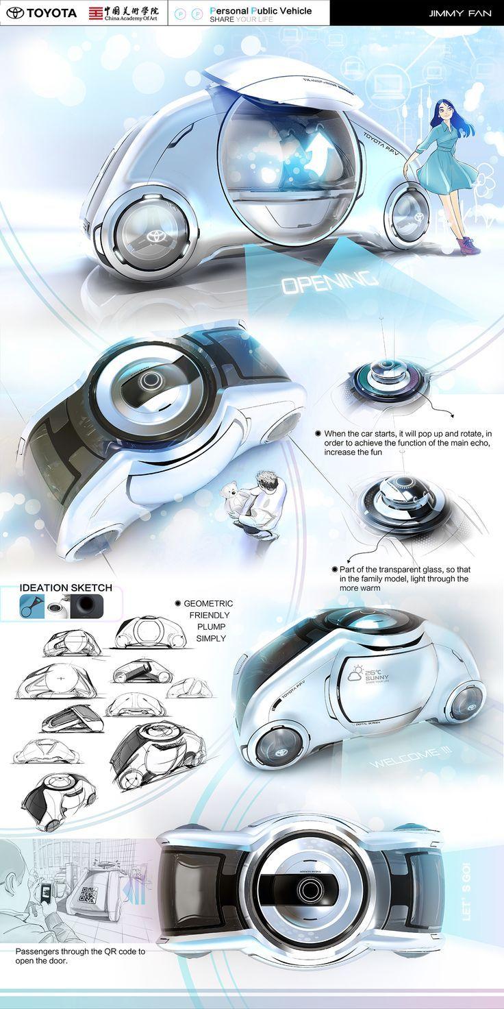 Toyota / Industrial design portfolio and Industrial design sketch