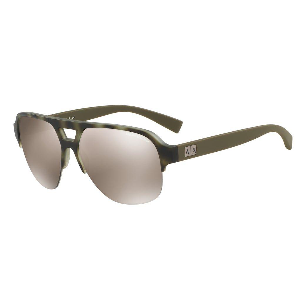 4fe5d0fdf Armani Exchange AX4056S 59mm Aviator Mirror Sunglasses   Products ...