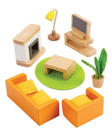 Look What I Found On Zulily Media Room Doll Furniture Set Zulilyfinds Brinquedos De Madeira Carro De Papelao Brinquedos Para Meninas