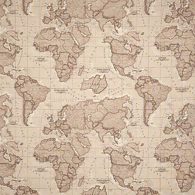 John lewis world map furnishing fabric mocha boys room buy john lewis world map fabric mocha online at johnlewis john lewis gumiabroncs Image collections