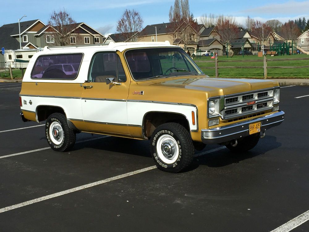 1975 Gmc Jimmy Gmc Jimmy Chevy K5 Blazer 4x4 Convertible Bronco Chevy Chevrolet Pickup Gmc