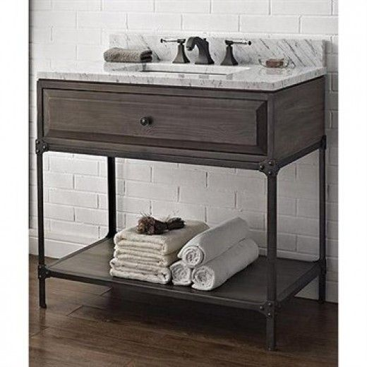 vintage industrial bathroom vanity like aged steel vanities love the - Vintage Bathroom Vanity