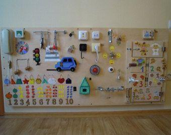 busy platte luntik activity board sensorische von. Black Bedroom Furniture Sets. Home Design Ideas