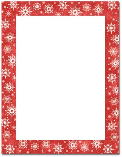 Snowy Flakes Letterhead  Holiday Papers    Flakes