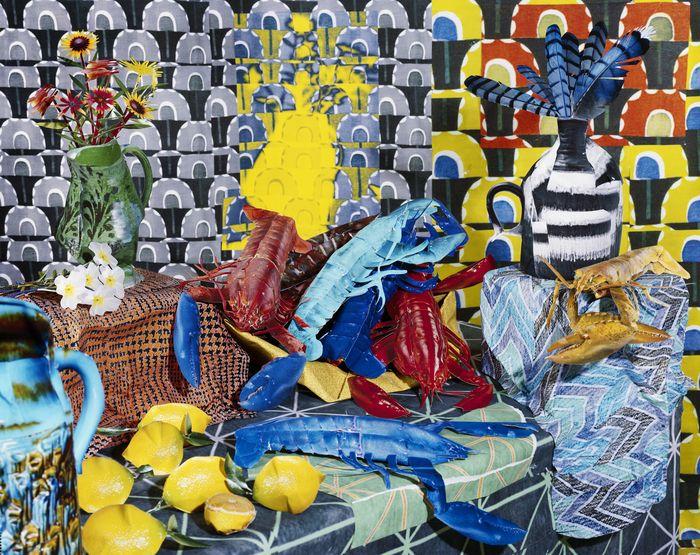 "Fotograaf: Daniel Gordon -  The Green Line, 2012-Present - Still Life with Lobster  50"" x 60"", C-Print, 2012"