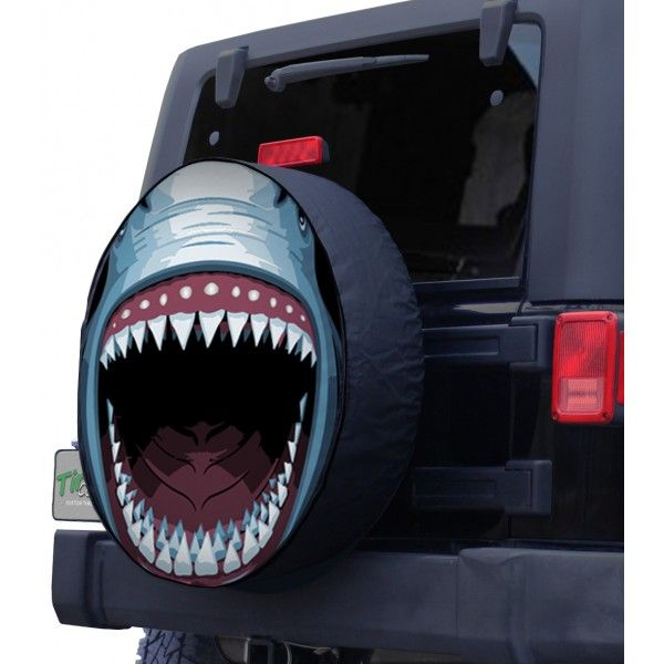 Great White Shark Tire Cover Front Jeep Tire Cover Tire Cover