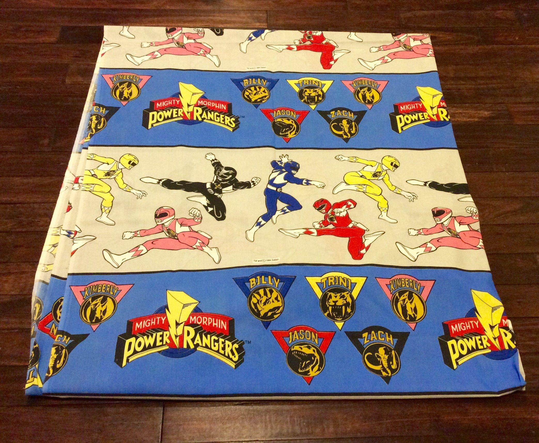 1994 Power Rangers Twin Bed Flat Sheet by Seban Power Rangers
