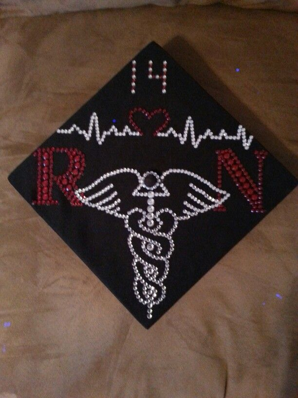 My Decorated Graduation Cap Registered Nurse Diy Pinterest
