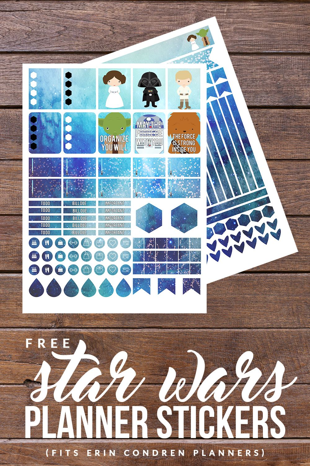 free star wars printable planner stickers
