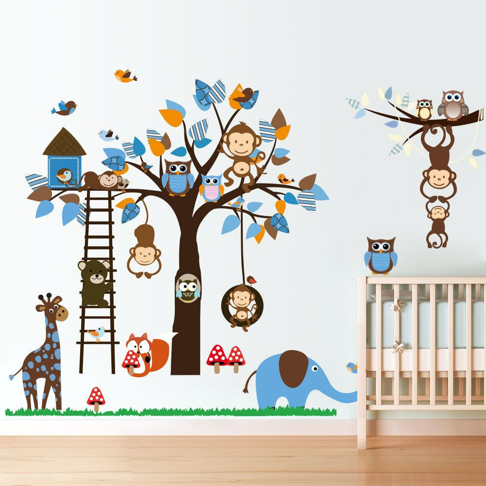 Jungle Decals Animal Wall Decal Jungle Animals Vinyls And Zoo - Nursery wall decals jungle