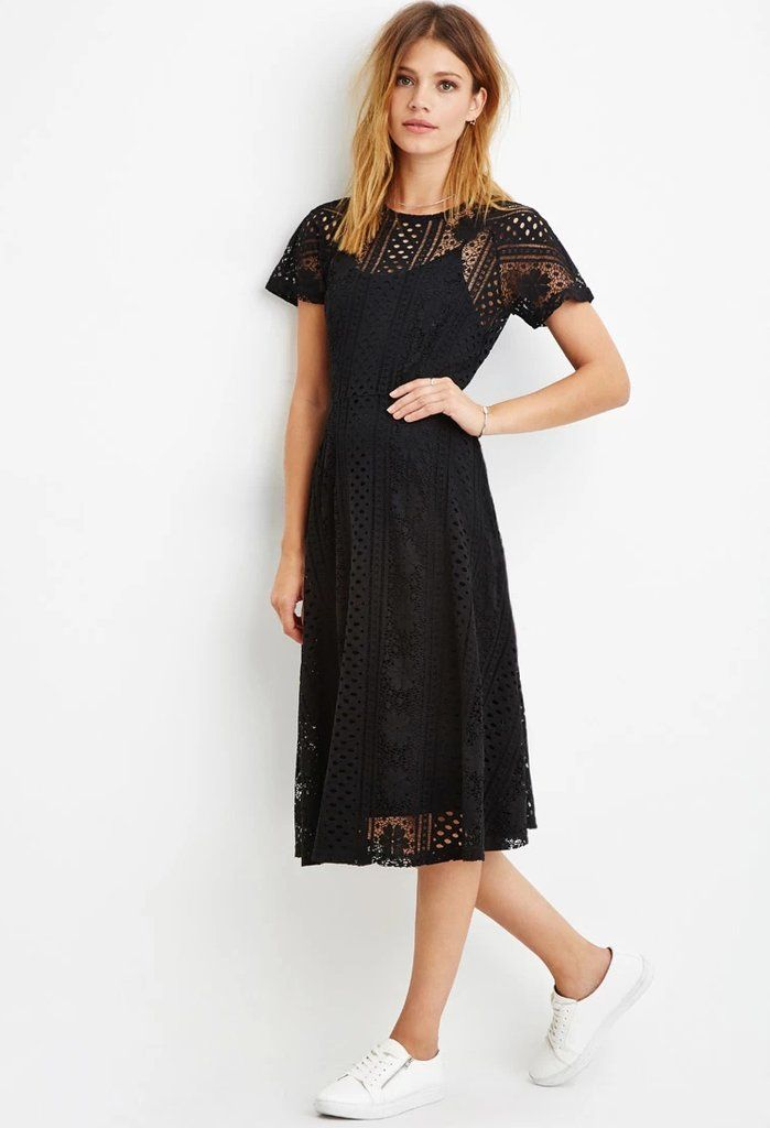 This Red Carpet Dress Is From Forever 21 And Now We Re Freaking Out Crochet Midi Dress Black Lace Midi Dress Black Lace Crochet Dress