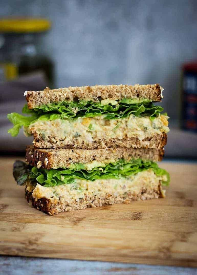 Photo of Vegan Chickpea Salad Sandwich Recipe [Only 5 ingredients!]