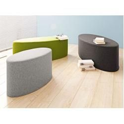 Photo of Softline Hocker Bon-Bon grau, Designer Busk & Hertzog, 33x120x50 cm Softline