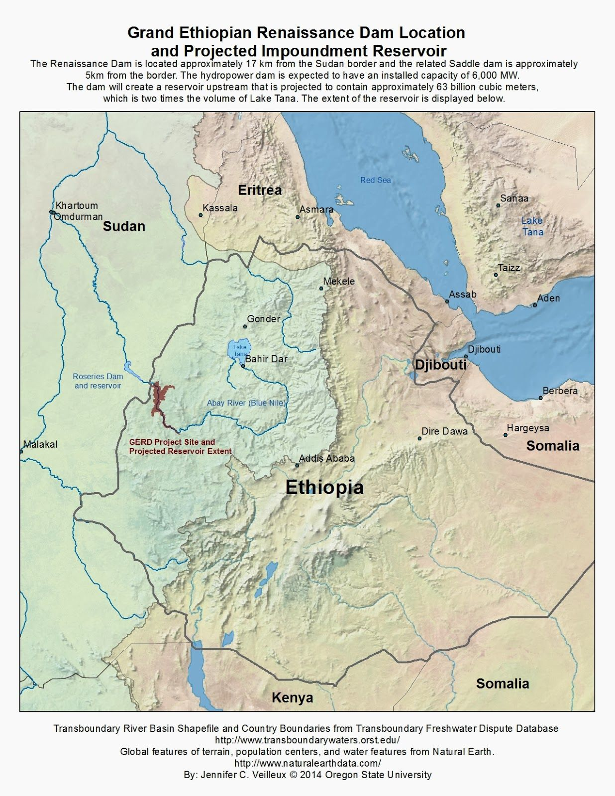 The Way Of Water Map Of Renaissance Dam Location And Expected - World map the nile river