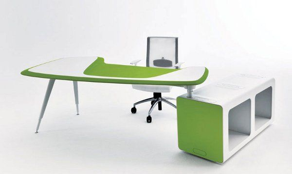 Minimalist Creative Ideas Office Furniture With Stylish Modern Design:  Minimalist Modern Green White Creative Ideas Office Furniture