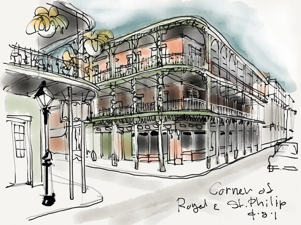 Artist Thomas Woodmans IPad Sketches And Drawings Of New Orleans Pierre Cottage St