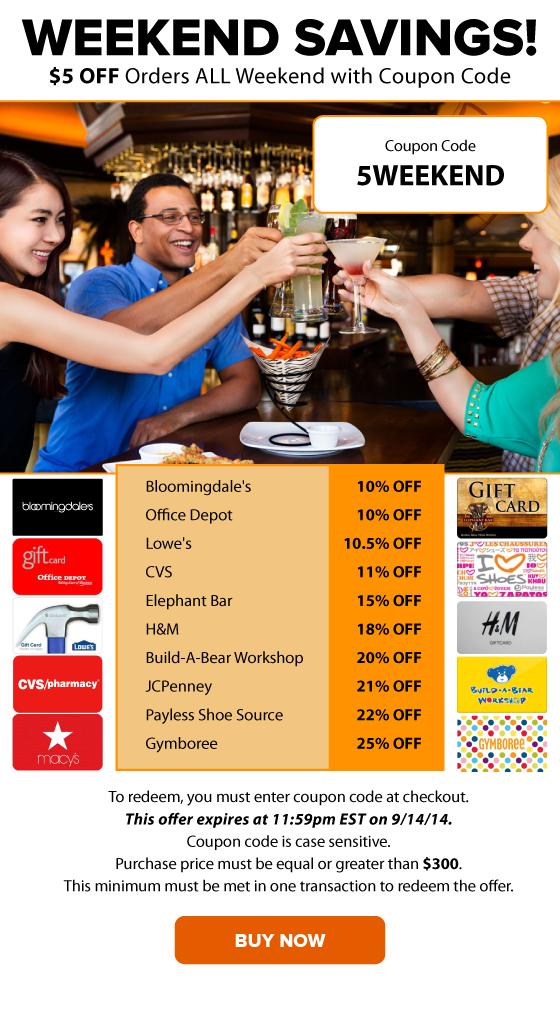 Weekend Savings: $5 OFF Orders + Bloomingdale's 10% OFF, Lowe's 10.5% OFF and More