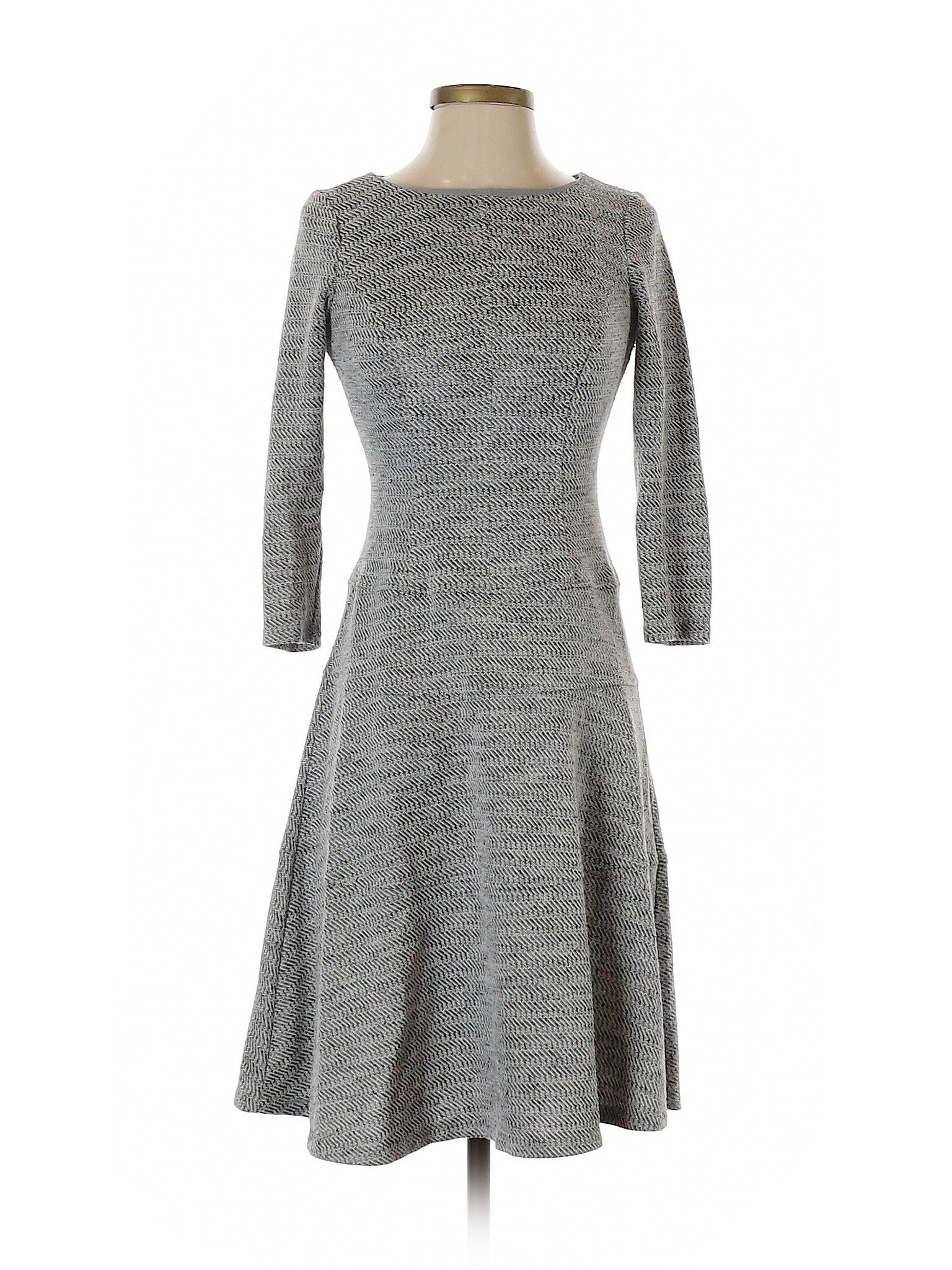 Anne Klein Casual Dress Fit Flare Gray Solid Dresses Used Size 2 Casual Dresses Casual Dresses For Women Casual Dress [ 2048 x 1536 Pixel ]