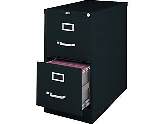 Staples 2 Drawer Letter Size Vertical File Cabinet Black 26 5 Inch At Staples Filing Cabinet Metal Filing Cabinet Drawers