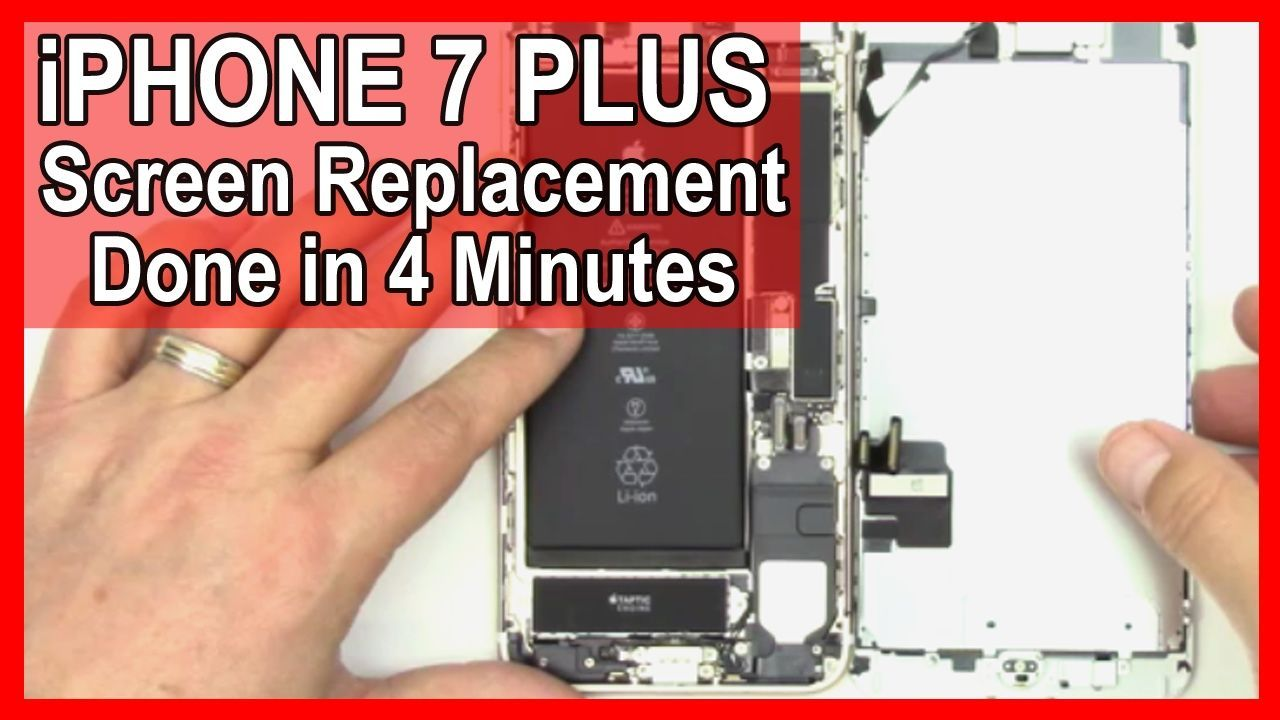 How to iphone 7 plus screen replacement done in 4 minutes