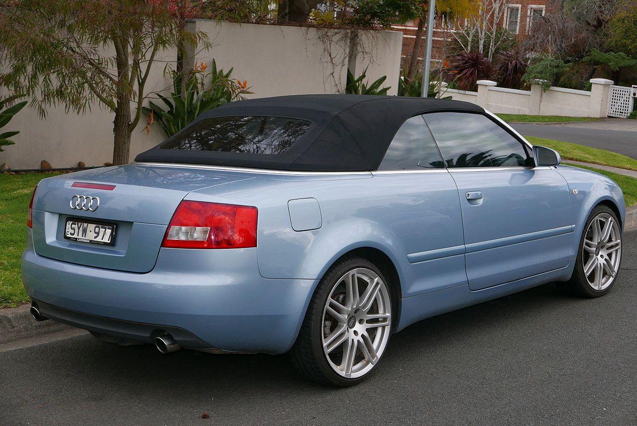 2004 Audi A4 8h 1 8 T Convertible 2017 07 24 02 Wikipedia