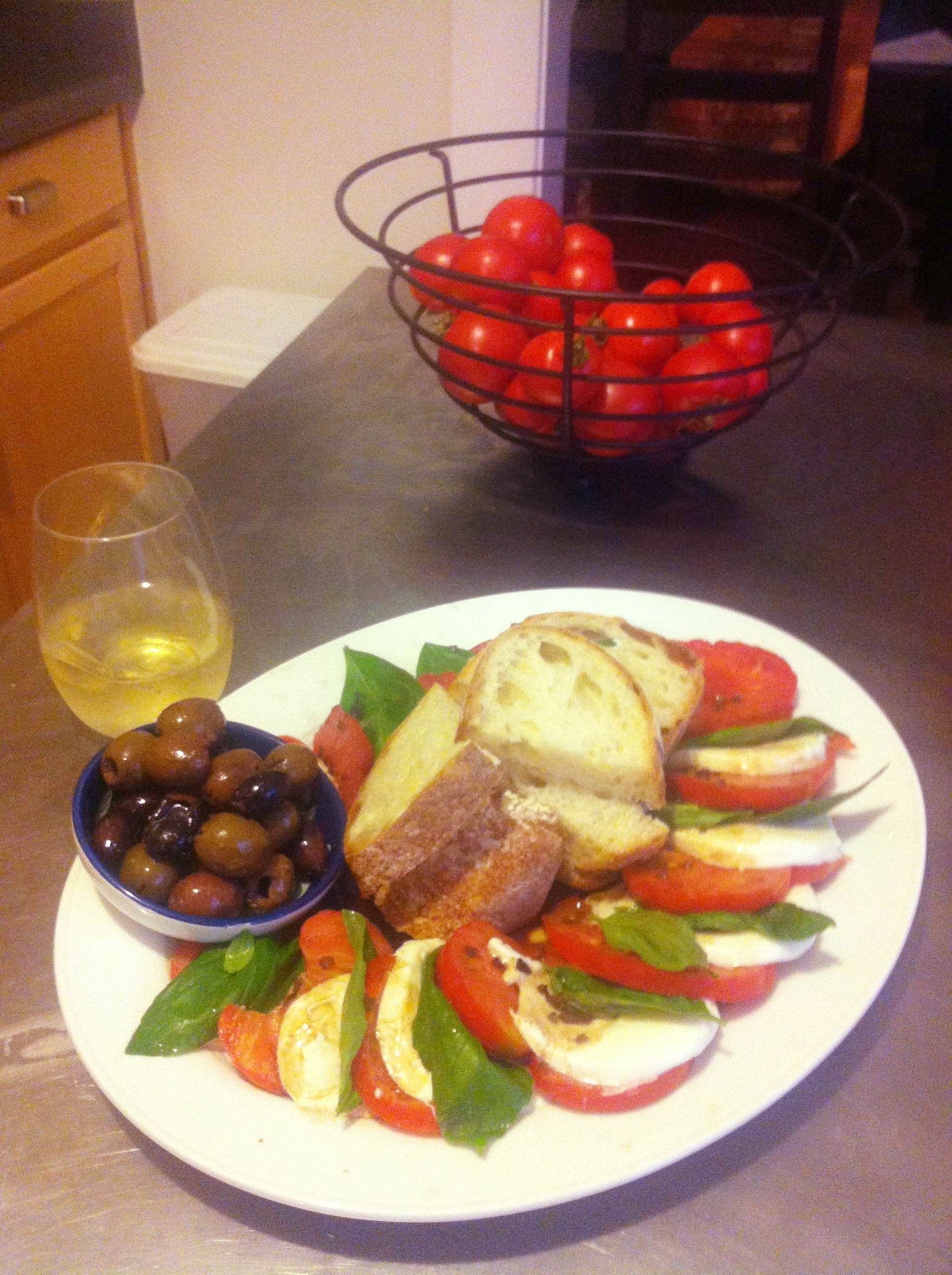 I could do this anytime, any day!  This is part of the wonderful Mediterranean diet!  YUM!