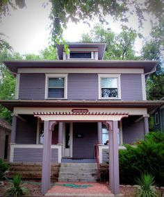 Purple Grey Paint House Exterior Google Search I Love