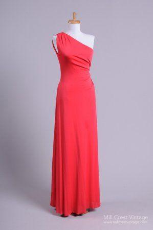 1970\'s One Shoulder Goddess Vintage Evening Gown   Vintage ...