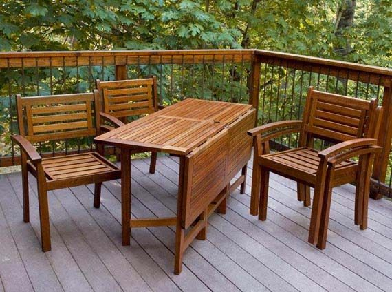 Nice Outdoor Furniture Collection Dining Set Design With The Folding Table