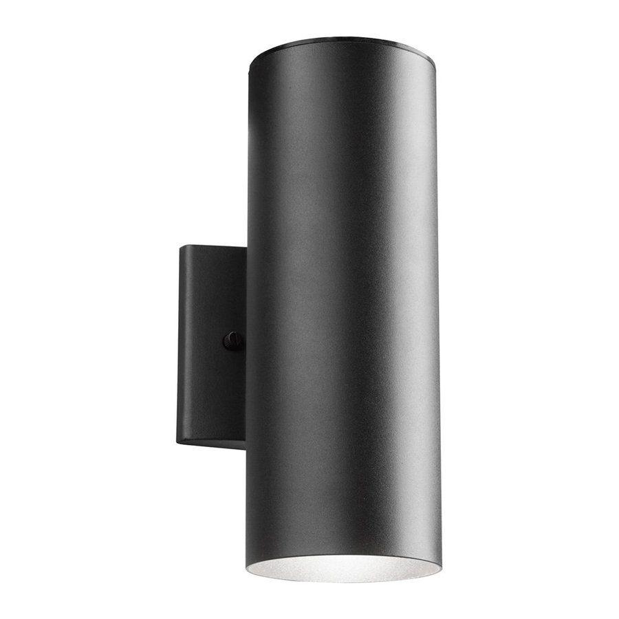 Kichler in h led textured black outdoor wall light bkt