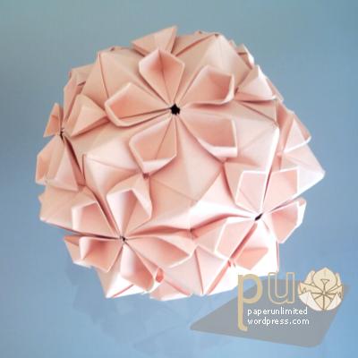 Kusudama Cherry Blossom Ball Origami Origami Easy Origami Ball